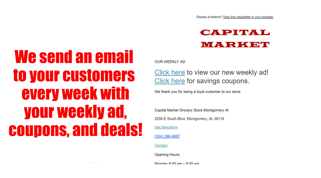 Grocery Store Email Marketing