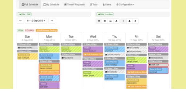 shift scheduling header