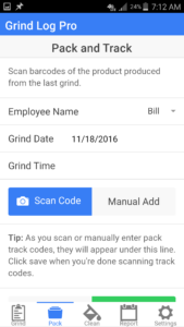 Grind Log Pro App 3