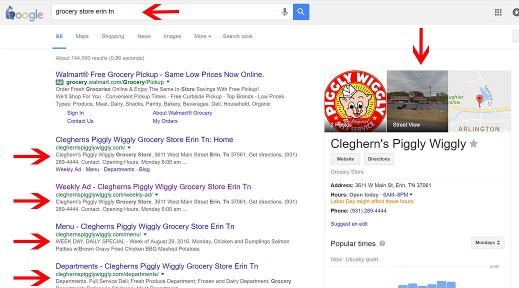 Grocery Store SEO - Search engine optimitization